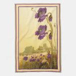 Vintage Purple Cosmos American MoJo Kitchen Towel