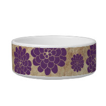 Vintage Purple Dahlia Floral Wedding Bowl