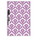 Vintage Purple Damask Pattern Dry-Erase Boards