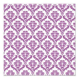 Vintage Purple Damask Pattern Photo Print