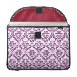 Vintage Purple Damask Pattern Sleeve For MacBooks