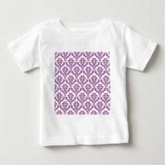 Vintage Purple Damask Pattern Tees