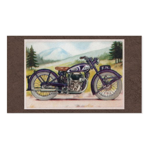 Vintage Purple F.N. Motorcycle Print Business Card