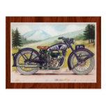 Vintage Purple F.N. Motorcycle Print Postcard