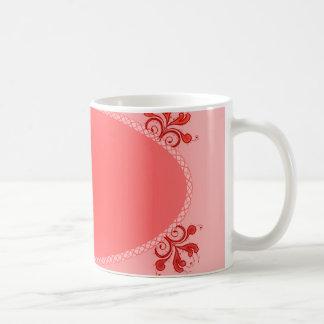 Vintage Purple floral and Oval design Coffee Mug