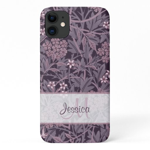 Vintage Purple Floral Jasmine by William Morris iPhone 11 Case