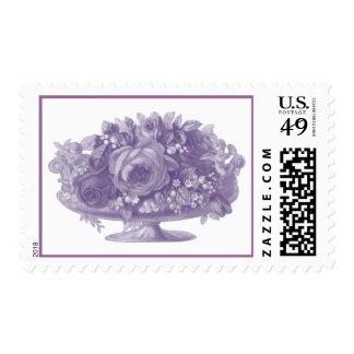 Vintage Purple Flower Arrangement Postage