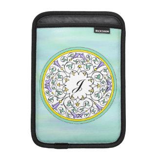 Vintage Purple Flower Blossom Pattern Sleeves iPad Mini Sleeve
