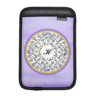 Vintage Purple Flower Blossom Scrol Pattern Sleeve iPad Mini Sleeve