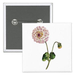 Vintage Purple Flower Ilustration Pin