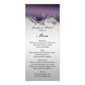 Vintage Purple Gradient and Silver Menu
