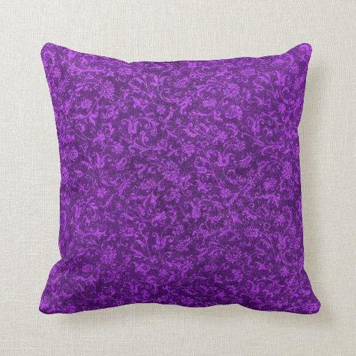 Vintage Purple Grape Pillow Throw Pillow Zazzle