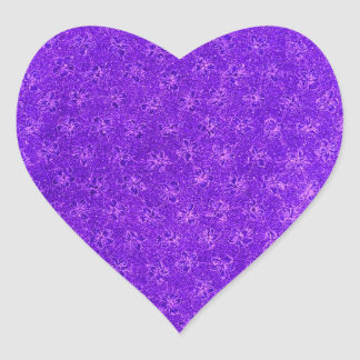 Vintage Purple Grape Violets Heart Sticker