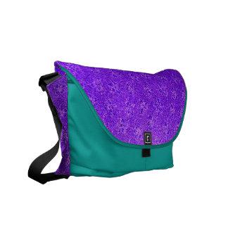 Vintage Purple Grape Violets Messenger Bag