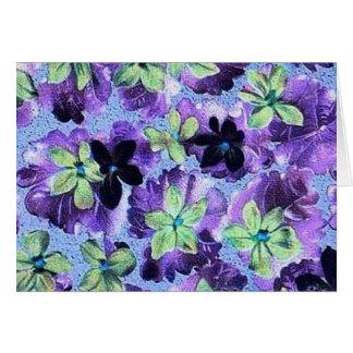 Vintage Purple Green Violets Cards