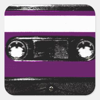Vintage Purple Label Cassette Square Sticker