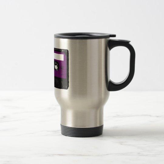 Vintage Purple Label Cassette Travel Mug
