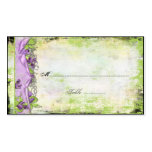 Vintage Purple Lavender Sweet Peas Place Cards Double-Sided Standard Business Cards (Pack Of 100)
