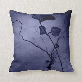 Vintage Purple Leaf Root Throw Pillow