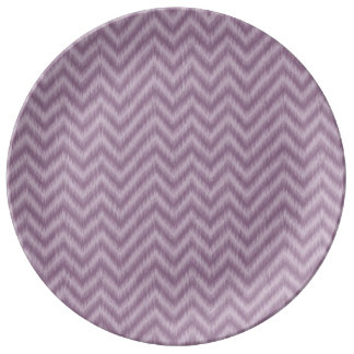 Vintage Purple Lilac Ikat Chevron Zigzag Plate