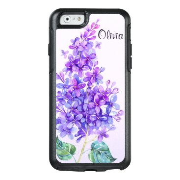 Christmas Themed Vintage Purple Lilac Otterbox iPhone 6/6s Case