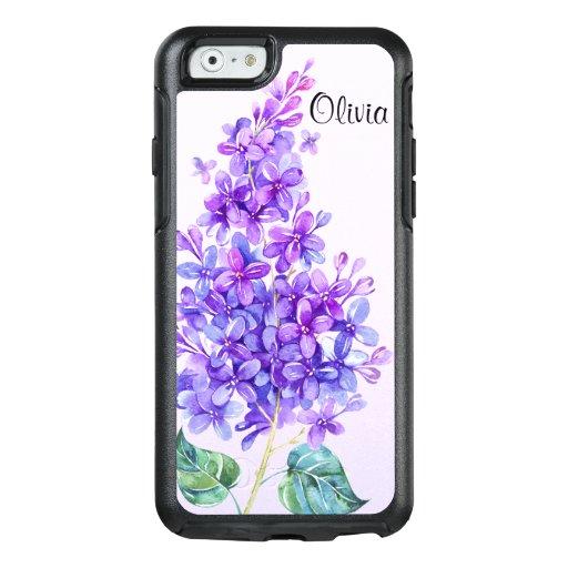 Vintage Purple Lilac Otterbox iPhone 6/6s Case