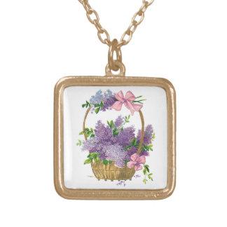 Vintage Purple Lilacs Antique Flower Bouquet Custom Jewelry