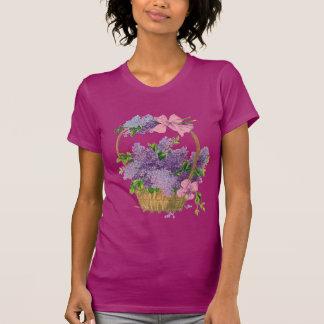 Vintage Purple Lilacs Antique Flower Bouquet T-Shirt