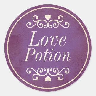 Vintage purple love potion sticker