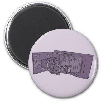 VIntage Purple Old Camera 2 Inch Round Magnet