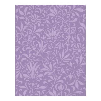VINTAGE -PURPLE PLANT SCRAPBOOK Paper Letterhead