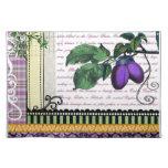 Vintage Purple Plum fruit art kitchen placemats