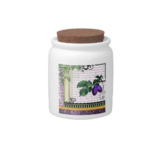 Plum Candy Jars Plum Candy Dishes Zazzle