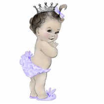 Vintage Purple Princess Baby Girl Shower Statuette