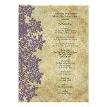 Vintage Purple Queen Ann's Lace Wedding Program Announcements