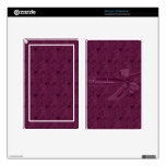 Vintage Purple Ribbon Personalized Kindle Skin