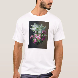 Vintage Purple Roses and White Lilacs T-shirt
