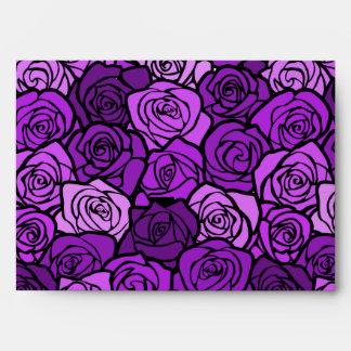 Vintage purple roses Envelope