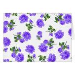 Vintage Purple Roses Greeting Card
