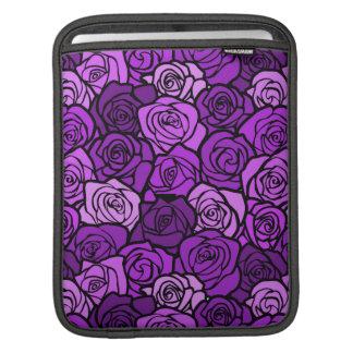 Vintage purple roses iPad Sleeve