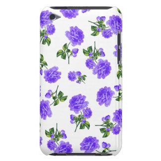 Vintage purple roses ipod case - white