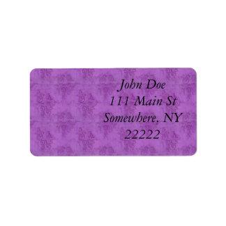 Vintage Purple Roses Personalized Address Labels
