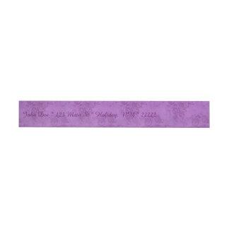 Vintage Purple Roses Wraparound Address Label