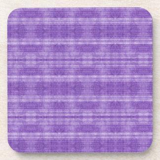 Vintage purple stripes drink coaster