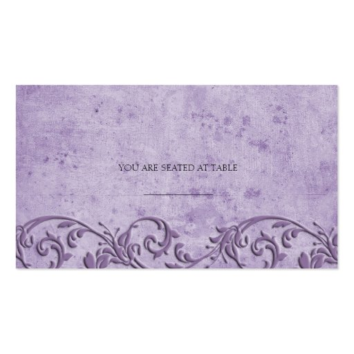 Vintage Purple Swirl Wedding Placecards Business Cards