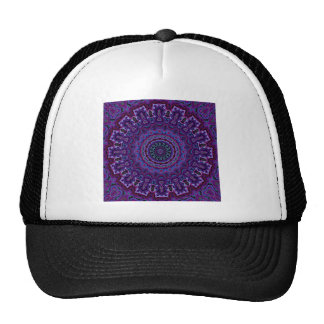 Vintage Purple Velvet Kaleidoscope Trucker Hat