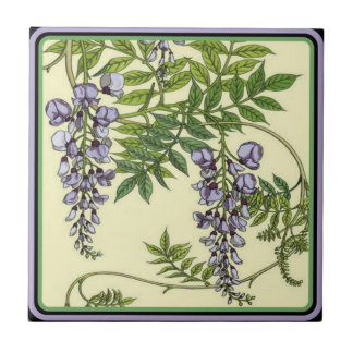 Vintage Purple Wisteria Tile