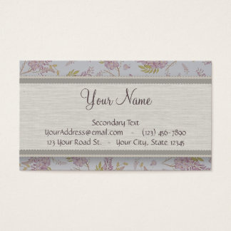 Vintage Purple Wisteria with Monogram Business Card