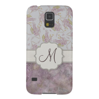 Vintage Purple Wisteria with Monogram Galaxy S5 Cover