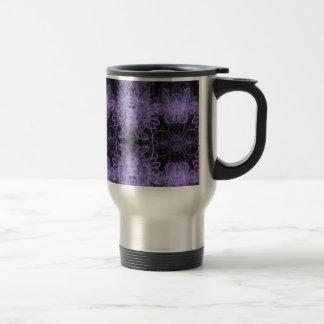 Vintage púrpura de la neblina taza de viaje